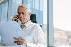 Businessman Recieving Notice of His No Fault Divorce